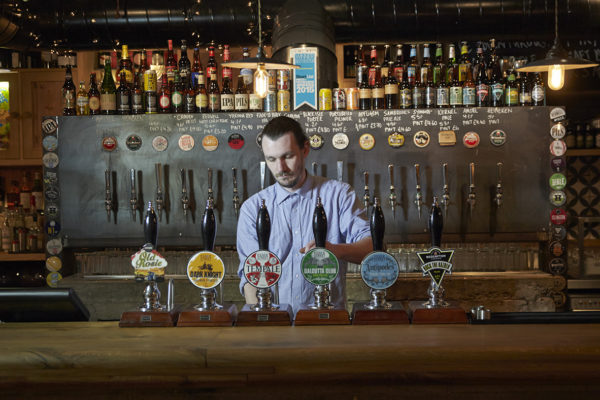 craft beer bar person