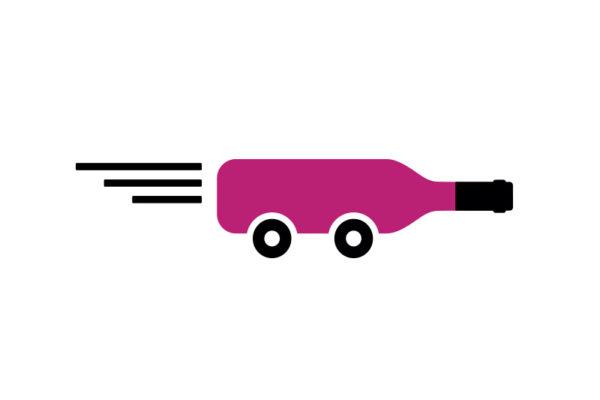 wine delivery cartoon
