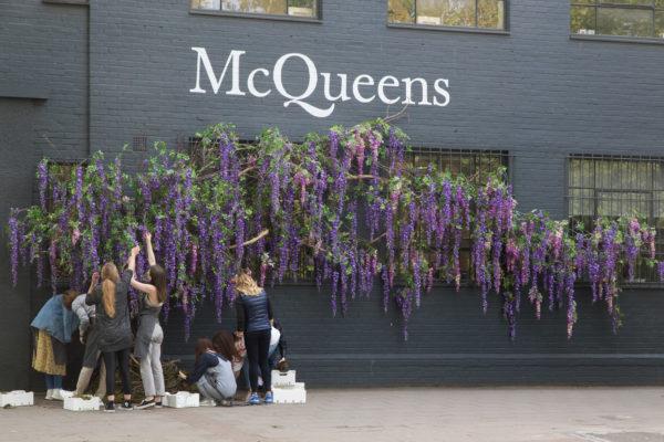 mcqueens flowers outside office