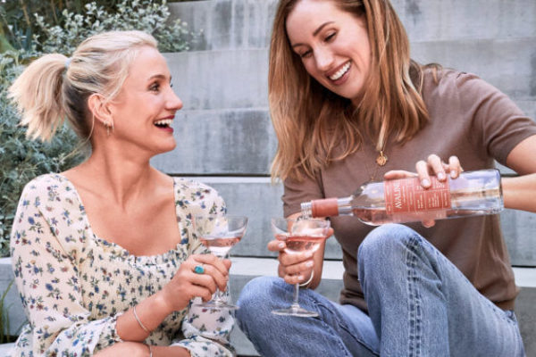 Storm in a rosé glass: Cameron Diaz and Katherine Power have got the wine chatterati in a lather over their claims for 'clean wine'
