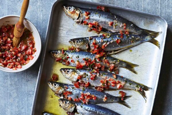 Simple but delicious: grilled sardines with