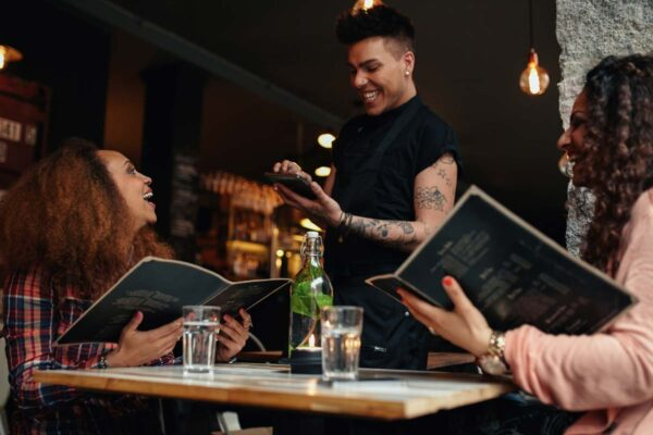 waiters talking