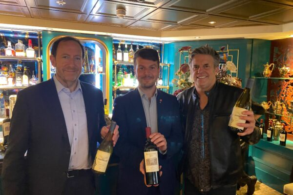 MIke Awin, of ABS WIne with Salvo Russo, Heliot Steakhouse at Hippodrome Casino